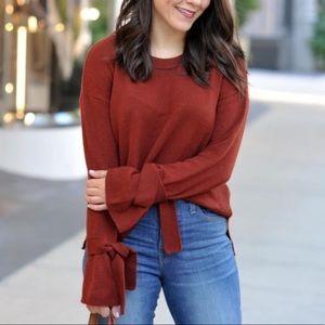 Madewell Tie Cuff Sweater. Size XS
